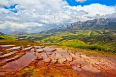 Badab-e Surt is a natural site in Mazandaran Province in northern Iran, 95 kilometres (59 mi) south of the city of Sari @Must See iran #mustseeiran #iran #sari