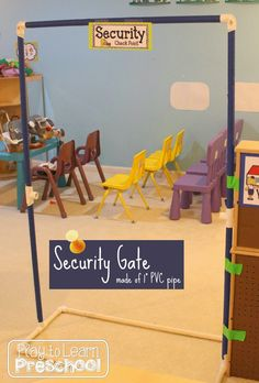 Play to Learn Preschool: Airport Dramatic Play Center Dramatic Play Themes, Dramatic Play Area, Dramatic Play Centers, Play Based Learning, Learning Through Play, Airport Theme, Transportation Unit, Role Play Areas, Play Centre