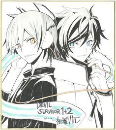Kazuya and Hibiki, the Devil Survivor protaganists.  So pretty!!