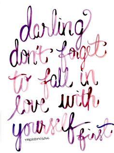 Man muss sich selbst lieben bevor man jemand anderes von ganzem Herzen lieben kann. Manchmal zeig einem ein ganz besonderer Mensch aber die guten und schönen Seiten an einem selbst; manchmal kannst du dich nur lieben weil er es von ganzem Herzen tut. ~Pia