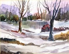 "Paint Along with Larry Hamilton- Watercolor - ""Woods by the Lake"""