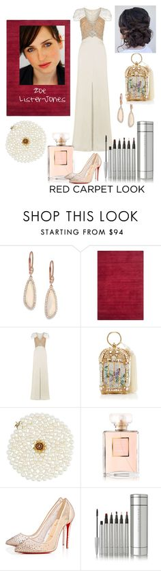 """""""Zoe Lister-Jones"""" by autumnflutters ❤ liked on Polyvore featuring Meira T, Safavieh, Jenny Packham, Judith Leiber, Chanel, Christian Louboutin and Ellis Faas"""