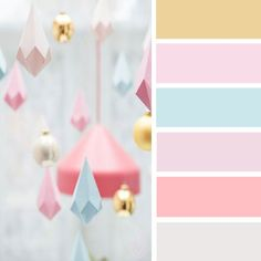 Unicorn Bedroom Ideas * 5 Simple steps * Party with Unicorns Pastel Bedroom, Girls Bedroom Colors, Bedroom Color Schemes, Bedroom Paint Colors, Colour Schemes, Colour Combinations, Peach Color Palettes, Pastel Colour Palette, Colour Pallete