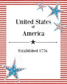 """A Glimpse Inside: """"Established 1776"""" Printable"""