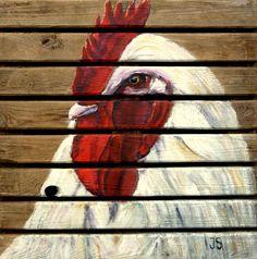 meinepinselstriche: Acrylfarben auf Holzpalette...pallet canvas