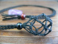 Hemp Neckalce for Tumble Stone (Interchangeable) (not include stone)