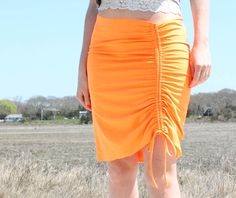 diy lanvin ruched beach skirt