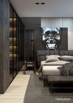 Why modern apartment decor is scarier than dating taylor swift apartment mix modern architecture touch tradition Modern Apartment Decor, Modern Bedroom Decor, Bedroom Ideas, Men Bedroom, Bedroom Romantic, Modern Bedrooms, Bedroom Art, Contemporary Bedroom, Luxury Rooms