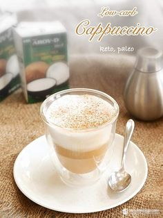 How to make super simple frothy cappuccino that is both dairy-free and keto. Low Carb Drinks, Low Carb Desserts, Low Carb Recipes, Banting Desserts, Easy Recipes, Keto Coffee Recipe, Coffee Recipes, Low Carb Cappuccino Recipe, Shake