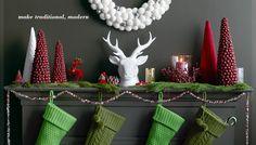modern traditional christmas display