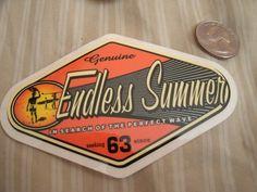 """Vintage Endless Summer Surf Surfboard August Hynson Wingnut Sticker 4"""" - NOS"""