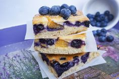 Glutenfree cottage slices with blueberry and peach 🍑🍰