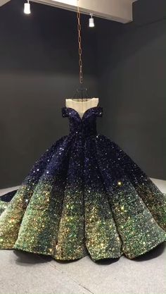Blue & Gold cathedral train couture ball gown - Source by - Wedding Dresses For Girls, Formal Dresses For Weddings, Bridal Dresses, Prom Dresses, Sexy Dresses, Summer Dresses, Cinderella Dresses, Hippie Dresses, Winter Dresses