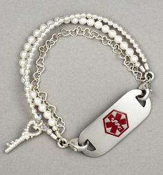 Paris Medical ID Bracelet... I soooo want this ID bracelet. It's cute and fashionable but still a warning in case something happens.