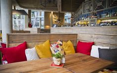 go here - The Oyster Shed, right in the city, but looks like it belongs by the sea somewhere