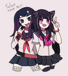 Ibuki and Sayaka Talent Swap AU!!! more like a personality swap haha