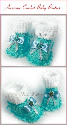 Top 40 Free Crochet Baby Booties Patterns - DIY & Crafts