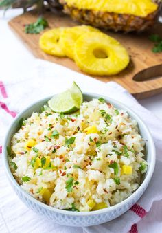 Sweet and spicy rice with crushed pineapple and red pepper flakes. Easy and delicious side dish to any entree | littlebroken.com @littlebroken