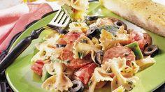 Italian Pasta Salad with Tomato Mayonnaise