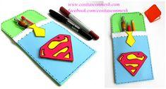 Funditas de superman para regalar en el día del padre ~ cositasconmesh