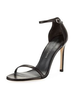Nudistsong+90mm+Minimalist+Leather+Sandal+by+Stuart+Weitzman+at+Neiman+Marcus.