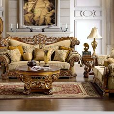 Classic luxury living room Paris | Vimercati Classic Furniture ...