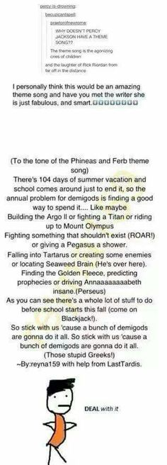 Pjo theme song perfect loved it