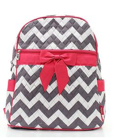 Chevron Gray  amp  White Hot Pink Personalized Preschool Kids Childrens 15
