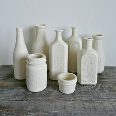 New York Porcelain Chemists Bottle NYC Vase by RevisionsDesign, $30.00.....I want the whole collection please :)