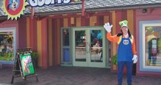 Goofy Candy Company exterior with Cast Member, Downtown Disney, Walt Disney World