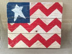 Primitive Americana chevron wood flag on Etsy, $20.00