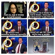 Colbert is quite ballsy at times