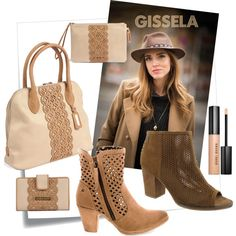 Beige y camel by publitaller on Polyvore featuring moda and Bobbi Brown Cosmetics