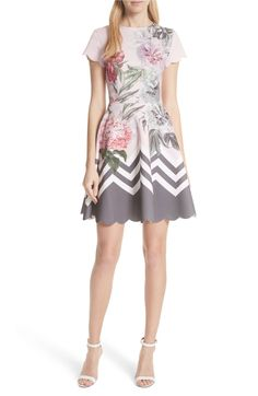 2f26fff25 Main Image - Ted Baker London Palace Gardens Skater Dress Dresses For Work