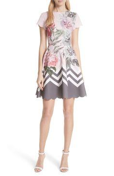 20509aac5f Main Image - Ted Baker London Palace Gardens Skater Dress Nordstrom Dresses