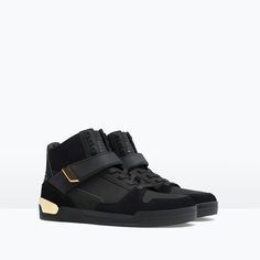 ZARA - MAN - HI-TOP SNEAKER WITH METAL DETAIL