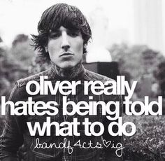 Oliver Sykes, Bring Me The Horizon, band facts me too Oli.