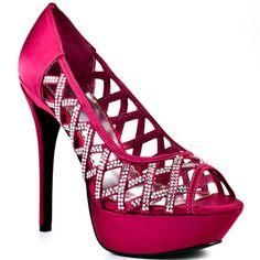 Bebe Shoes  Oasis - Fuchsia  115.00  ~ Love the glitz