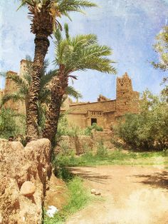 Kasbah Taourirt in eastern Ouarzazate, Morocco  is chiefly inhabited by Berbers, who constructed many of the prominent kasbahs and buildings for which the area is known.