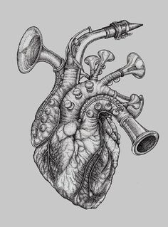 Music Heart Tattoo on Pinterest | Small Tattoos For Men Heart Tattoos ...