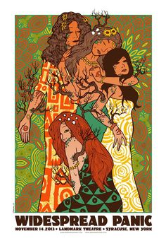 Widespread Panic Syracuse Poster by Jermaine Rogers