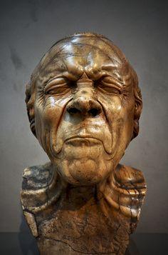 "Franz Xaver Messerschmidt - from 64 ""canonical grimaces"" of the human face, 1770-1783, Belvedere, Vienna"