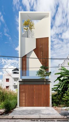 New House Facade Modern Exterior Design Ideas Facade Architecture, Residential Architecture, Contemporary Architecture, Contemporary Interior, Modern Townhouse, Townhouse Designs, Facade Design, Exterior Design, Narrow House