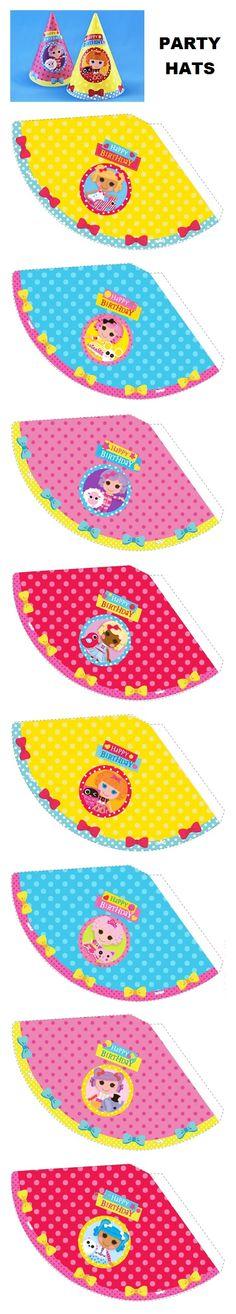 Lalaloopsy party hat printable