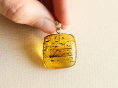 Amber jewelry summer set/ flat cube pendant & stud earrings | Etsy Summer Set, Amber Jewelry, Daily Wear, Green Colors, Etsy Earrings, Happy Shopping, Dog Tag Necklace, Cube, Pendant Necklace