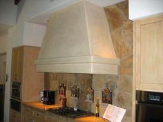 plastered spanish style range hood   Stove Exhaust Hood by Cederholm Plastering & Stucco, Inc