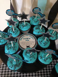 Rock Star Baby Shower Party cupcakes!  See more party ideas at CatchMyParty.com!