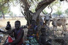 A handout picture released by the UN on January 5, shows internally displaced persons resting in Pibor, Jonglei state after fleeing the surrounding areas following a wave of bloody ethnic violence. More than 3,000 people were killed in South Sudan in brutal massacres last week in bloody ethnic violence that forced thousands to flee, the top local official in the affected area said Friday. (Isaac Billy)