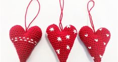 Xmas, Christmas Ornaments, Wool, Holiday Decor, Crochet, Crafts, Bomuld, Amigurumi, Tricot