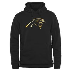 Carolina Panthers Pro Line Black Gold Collection Pullover Hoodie